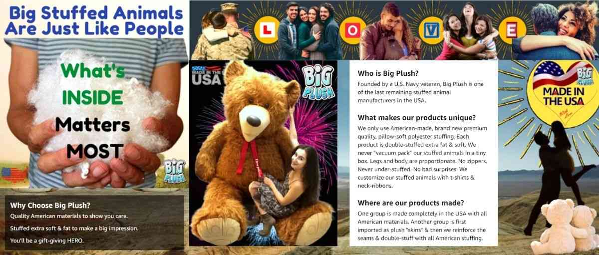 Big stuffed animals are just like people: What's inside matters most.