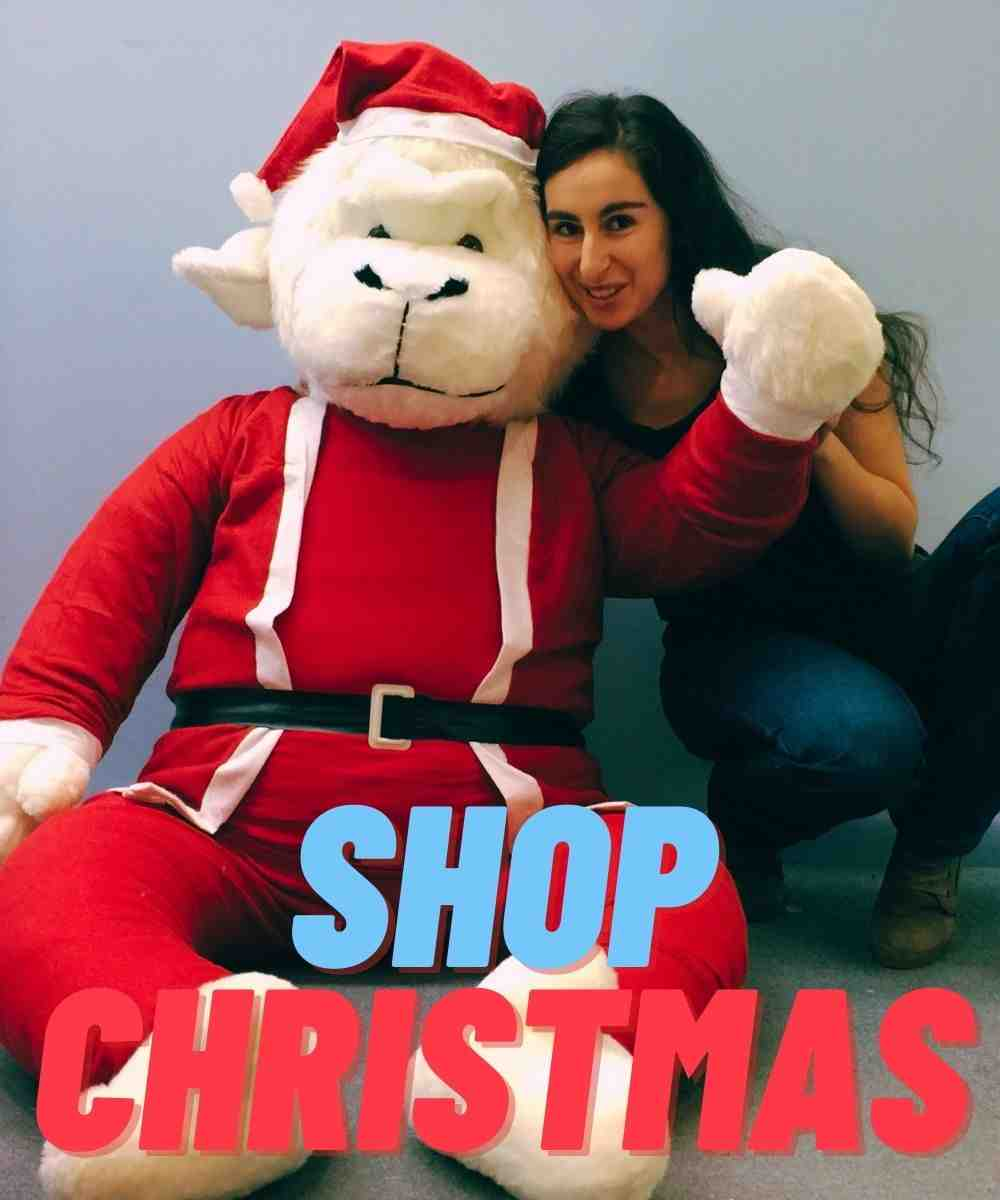 Shop for Christmas theme giant stuffed animals at the Big Plush Store where huge stuffed animals are manufactured in the USA