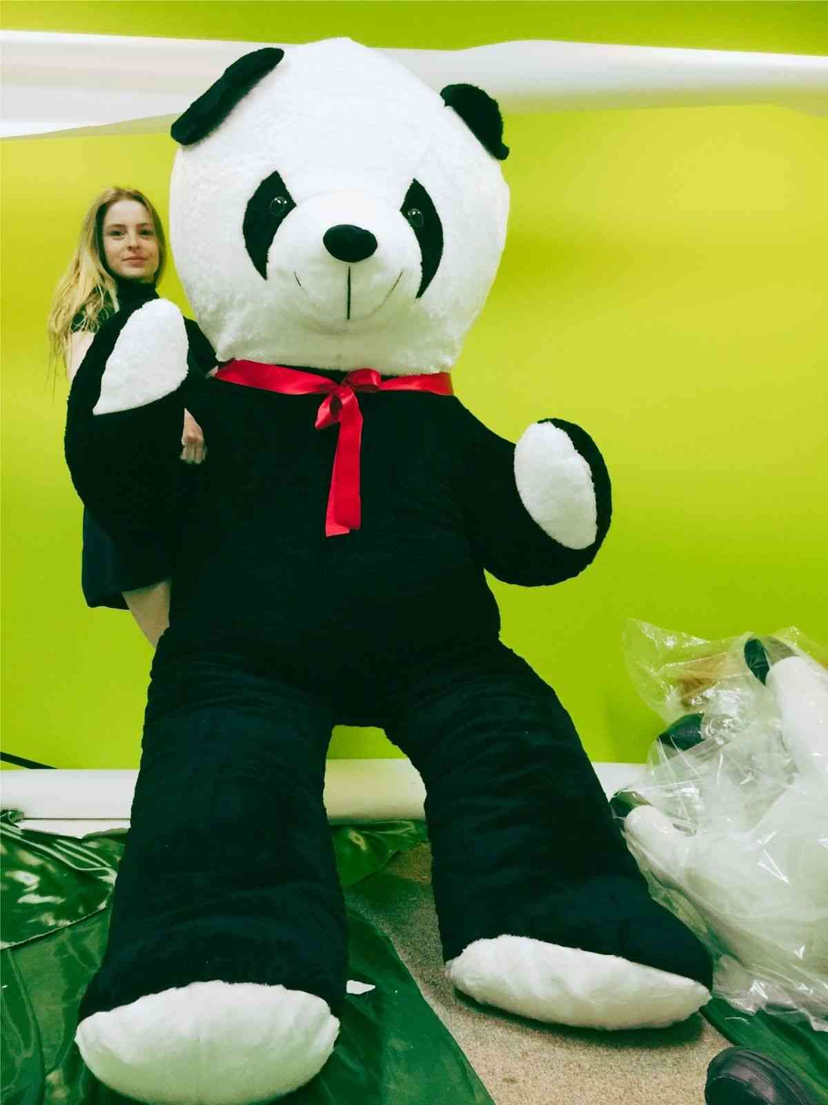 Shop the INSANELY BIG STUFFED ANIMALS Category to get this 8 feet tall giant stuffed panda that's made in the USA