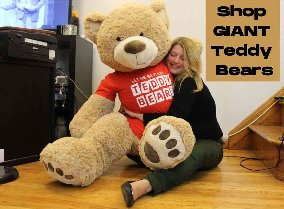 Shop hundreds of giant teddy bears that range in size from two feet tall to nine feet tall