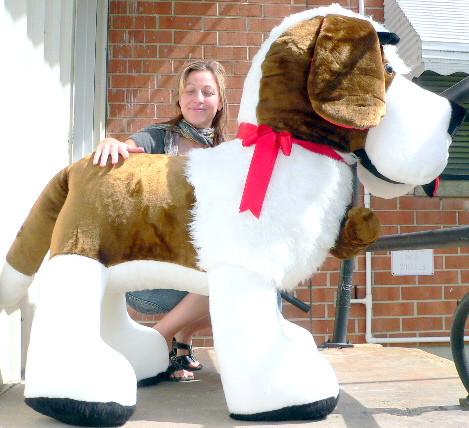 American Made Giant Stuffed Saint Bernard 60 Inch Huge Soft Big
