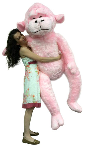 Giant Stuffed 6 Foot Pink Gorilla 72 Inch Soft Huge Plush Monkey