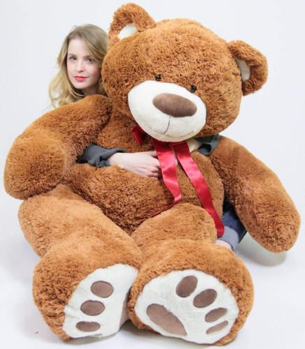 353c37c3e89c 5 Foot Very Big Smiling Teddy Bear 60 Inch Soft Brown Giant Stuffed Animal  with Bigfoot Paws - Big Plush Personalized Giant Teddy Bears Custom Stuffed  ...