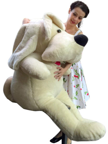 American Made Big Plush Puppy 60 Inch Soft 5 Foot Beige Giant