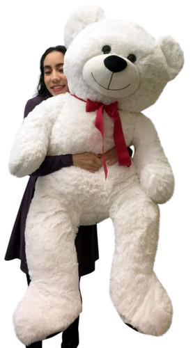 giant teddy bear  Giant Valentine's Day Teddy Bear 52 Inch White Soft, Premium Quality ...