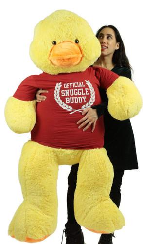 4 Foot Giant Stuffed Duck 48 Inch Soft Big Plush Wears Tshirt