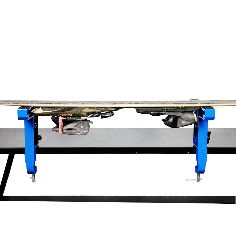 Horizontal placement ski for repair your ski base and tuning your base edge.