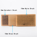 XCMAN Ski Snowboard Waxing Brush Kit Nylon HorseHair Brass Brush Metal File and Metal Scraper