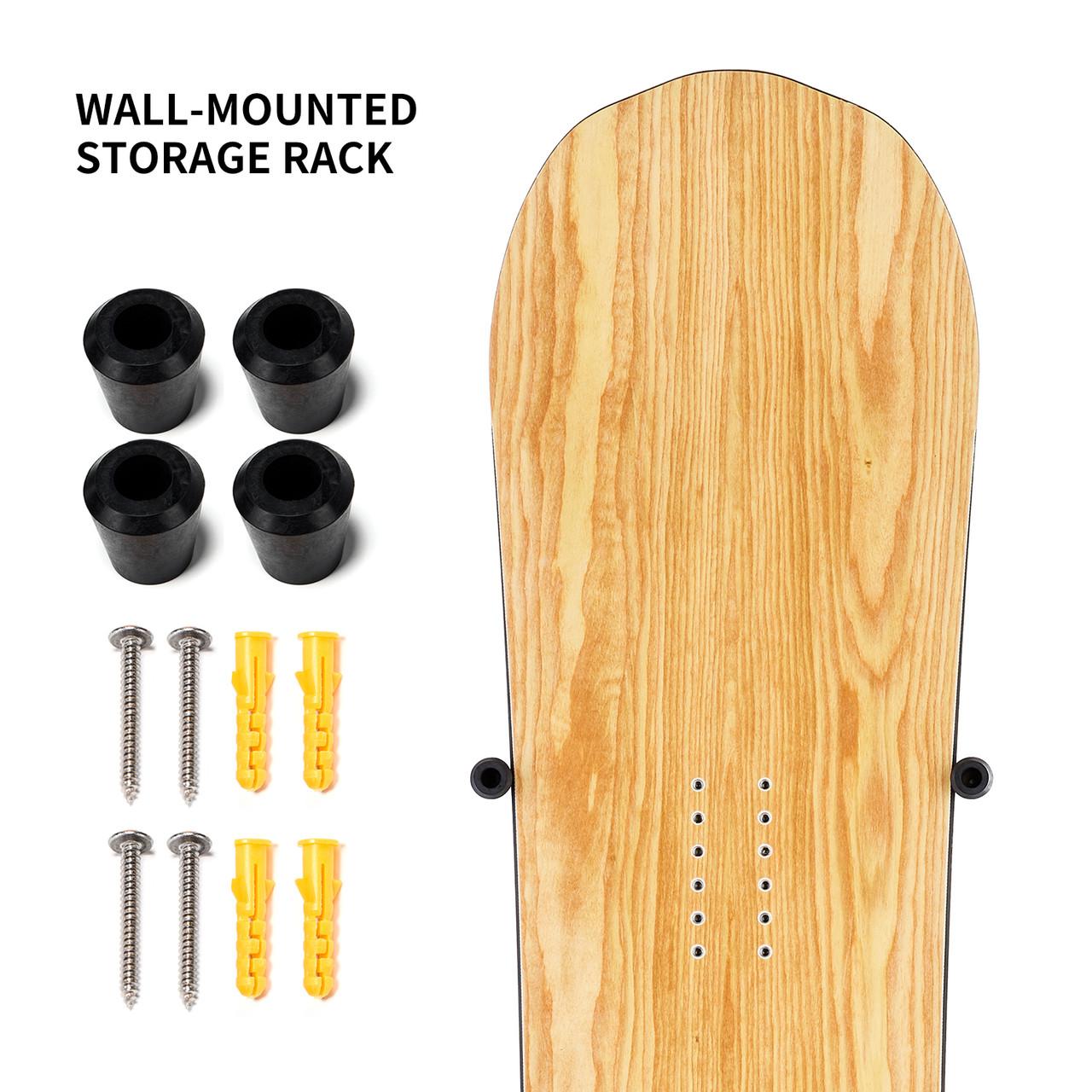 Metal Ski Snowboard Hanger Skateboard Holder Longboard Wall Mount Rack Simple