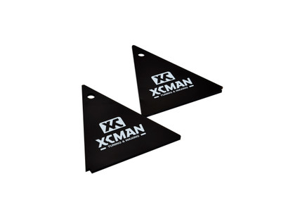 XCMAN Alpine Ski Waxing Triangle Scraper 4mm Thick- Dark Brown, 2pcs