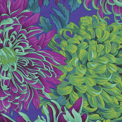 Kaffe Fassett Collective - classic Japanese Chrysanthemum Philip Jacobs - green