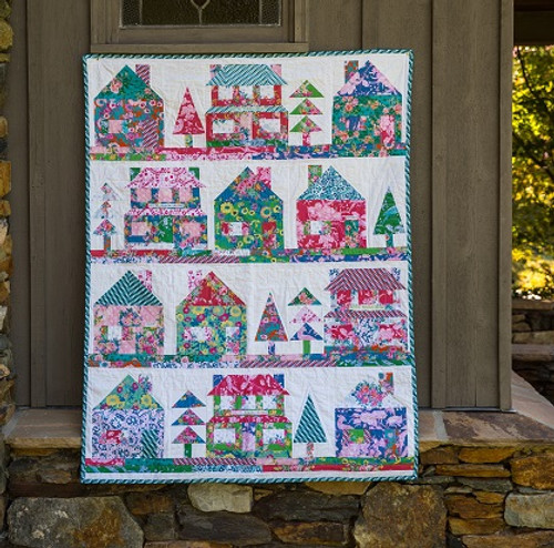 The Village Quilt Pattern, free PDF