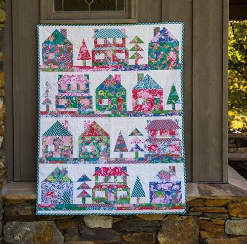 The Village Quilt Pattern, free PDF