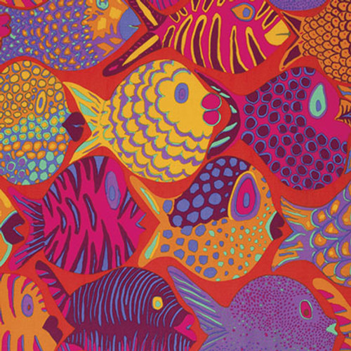 Pattern:Shoal Colour: Tomato Designer: Brandon Mably