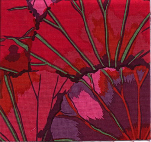 Lotus Leaf Kaffe Fassett Classic Colour: Wine
