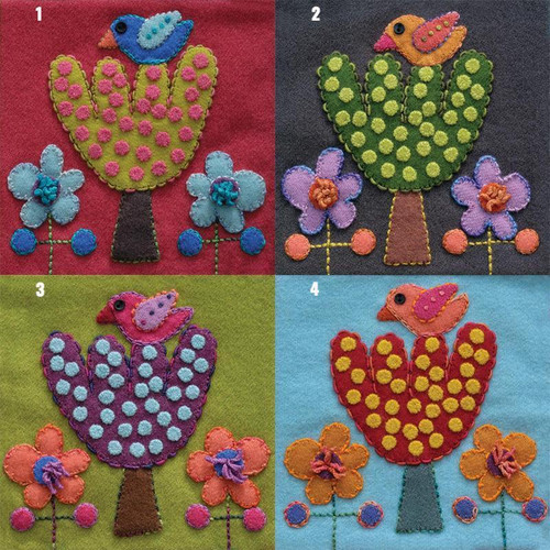 Sue Spargo Pre-Cut Block Bird & Tree