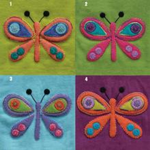 Sue Spargo Pre Cut Block - Butterfly