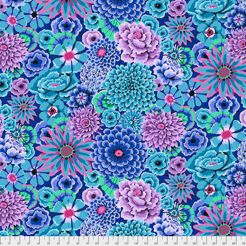 Enchanted - blue Kaffe Fassett Fal 2018