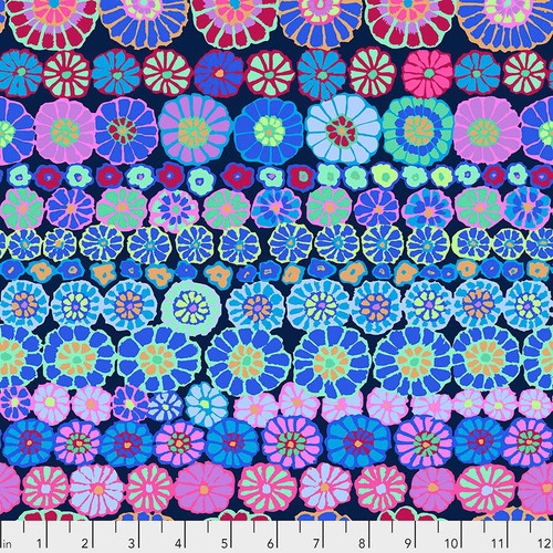 Row Flowers - Blue Kaffe Fassett