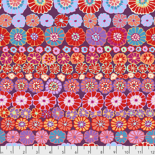 Row Flowers - Red Kaffe Fassett