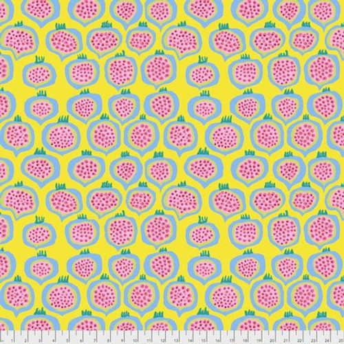 Pomegranate - Yellow, per half yard