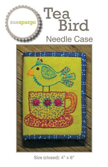 Tea Bird Needle Case Pattern by Sue Spargo
