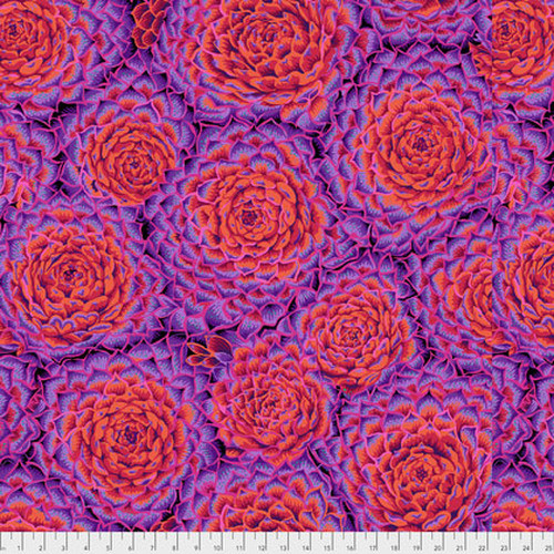 Succulent - RED, Philip Jacobs, PWPJ091, per 1/2 yard