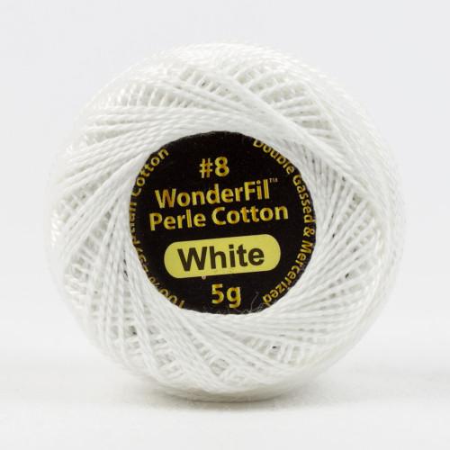 WHITE-#8 Perle cotton, 2-ply 100% long staple Egyptian cotton(EL5G-100) (EL5G-100)