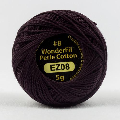 BLACK LOTUS-#8 Perle cotton, 2-ply 100% long staple Egyptian cotton (EL5G-8)