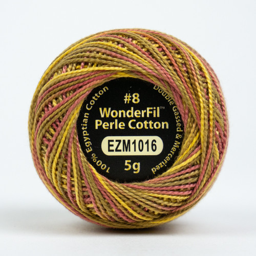 AUTUMN SPICE-#8 Perle cotton, 2-ply 100% long staple Egyptian cotton in variegated colors (EL5GM-1016)