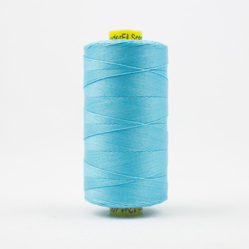 WONDERFIL SPAGETTI-BRIGHT AQUA-12wt 3-ply Double-Gassed Egyptian cotton. (SP4-45)