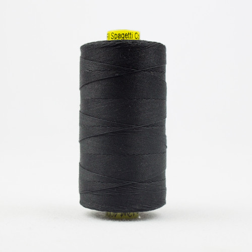 WONDERFIL SPAGETTI-BLACK-12wt 3-ply Double-Gassed Egyptian cotton. (SP4-200)