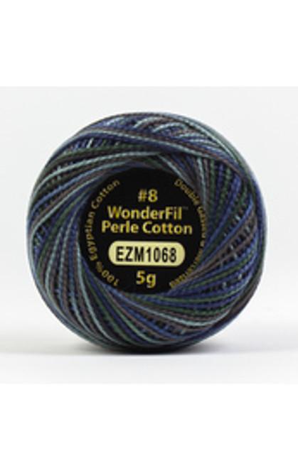 WONDERFIL ELEGANZA-Avocado#8 Perle cotton, 2-ply 100% long staple Egyptian cotton in variegated colors. (EL5GM-1068)
