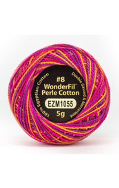 WONDERFIL ELEGANZAE-Ball Pit -#8 Perle cotton, 2-ply 100% long staple Egyptian cotton in variegated colors (EL5GM-1055)