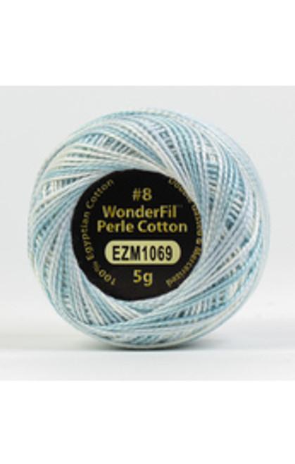 WONDERFIL ELEGANZA-Aqua Marine #8 Perle cotton, 2-ply 100% long staple Egyptian cotton in variegated colors. (EL5GM-1069)