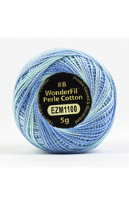 WONDERFIL ELEGANZA-Sweet Baby#8 Perle cotton, 2-ply 100% long staple Egyptian cotton in variegated colors. (EL5GM-1100)
