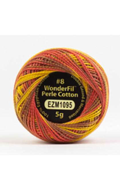 WONDERFIL ELEGANZA-SUNBURNT-#8 Perle cotton, 2-ply 100% long staple Egyptian cotton in variegated colors ( EL5GM-1095)