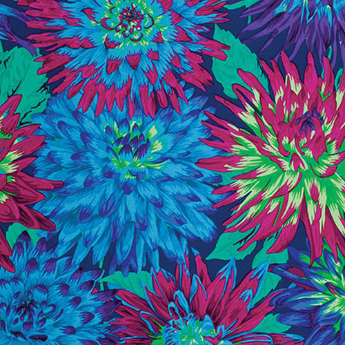 Cactus Flower Philip Jacobs for the Kaffe Fassett Collective Blue