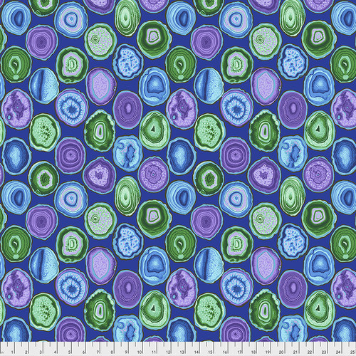 Philip Jacobs for the Kaffe Fassett Collective Geodes Blue