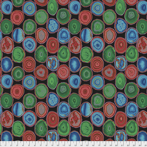 Philip Jacobs for the Kaffe Fassett Collective Geodes Black