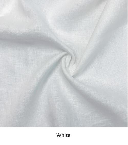 "Linen 100%, Lana White,  52/53"" wide, per 1/2 yard"