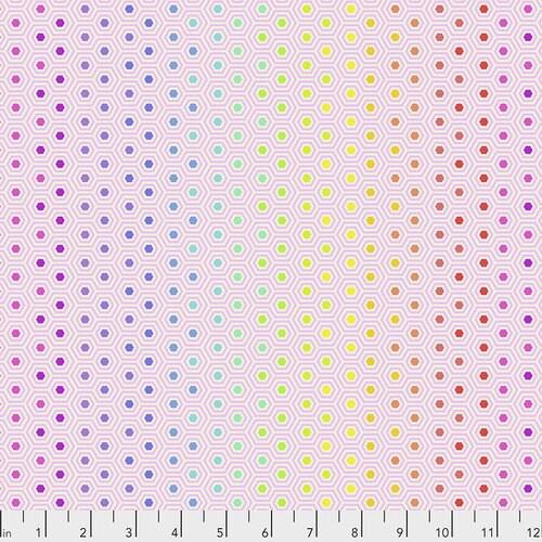 Tula Pink, True Colors, Hexy Rainbow - Shell