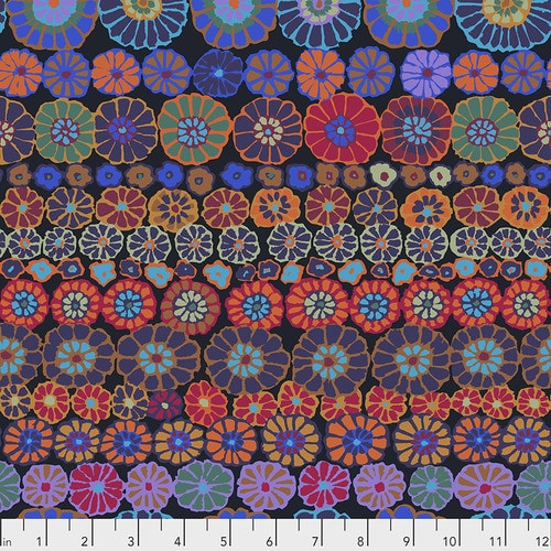 Row Flowers - Dark, Kaffe Fassett