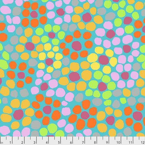 Kaffe Fassett Collective, Brandon Mably Flower Dot - Aqua