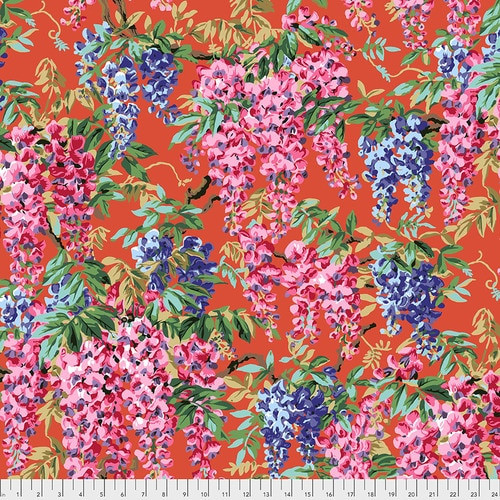 Wisteria - Red, Philip Jacobs Philip Jacobs for the Kaffe Fassett Collective PWPJ102.RED