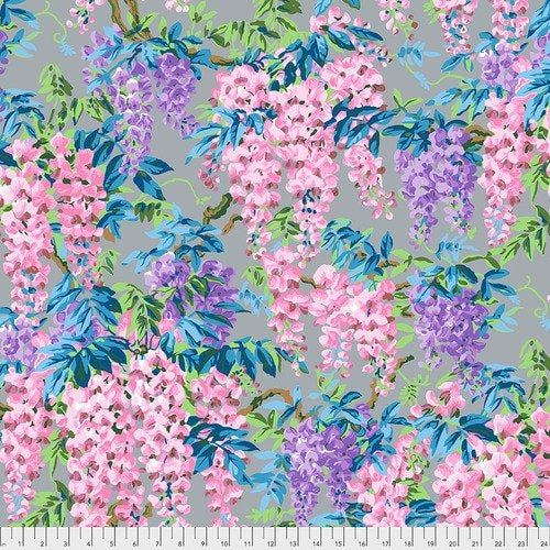Wisteria - Grey, Philip Jacobs Philip Jacobs for the Kaffe Fassett Collective PWPJ102