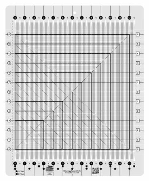 Creative Grids Stripology Squared Quilt Ruler # CGRGE2 From Creative Grids USA By Erla, Gudrun
