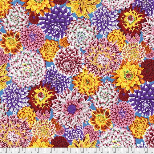 Dancing Dahlias - Multi Philip Jacobs, Kaffe Fassett Collective