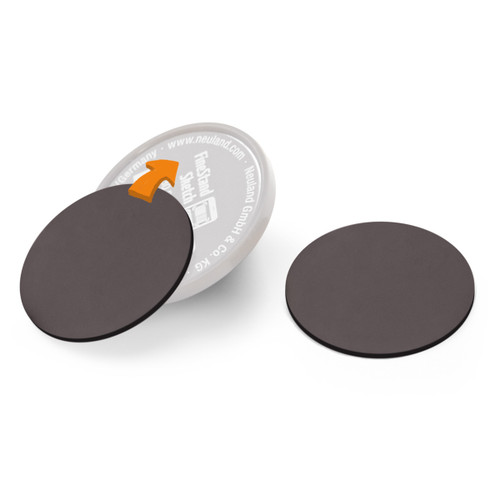 Self-adhesive magnetic discs for FineStand