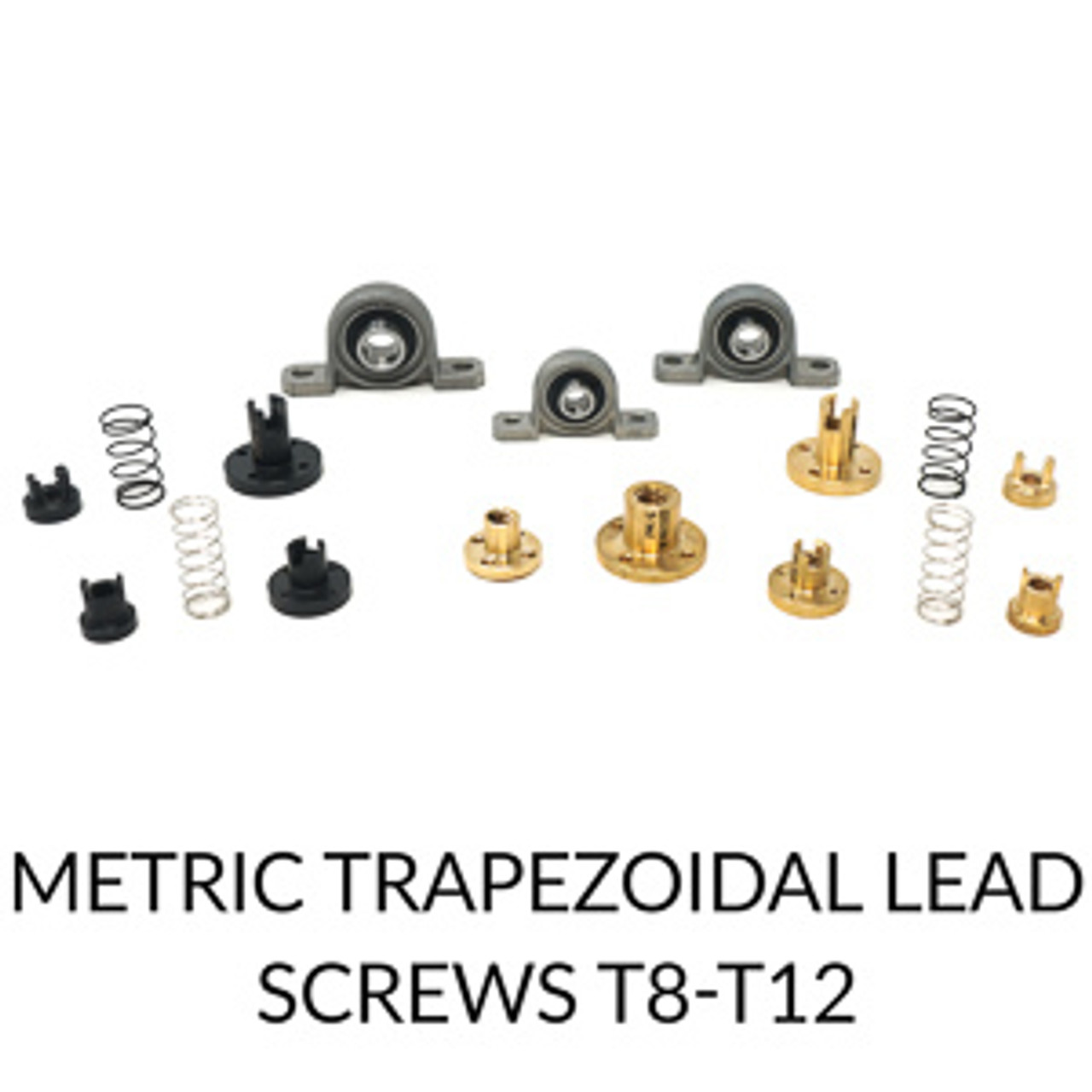 Metric Trapezoidal Lead Screws T8-T12